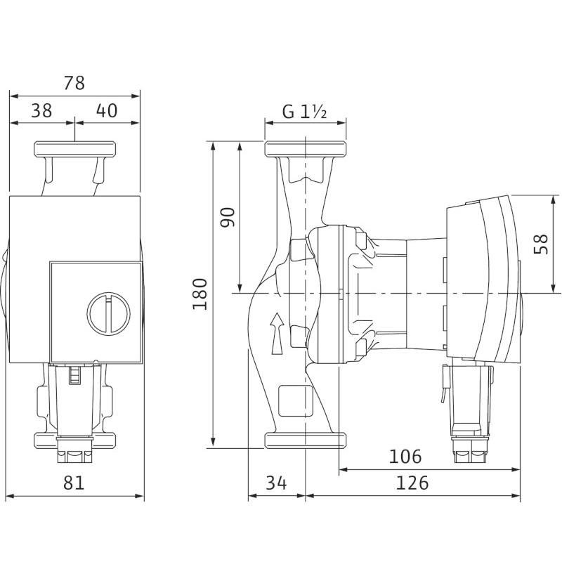 wilo yonos pico 25 1 6 ahs pl systemy nawadniania uzdatniania wody pompy hydrofory i. Black Bedroom Furniture Sets. Home Design Ideas