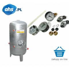 Zbiornik hydroforowy ocynkowany  150 l + OSPRZĘT
